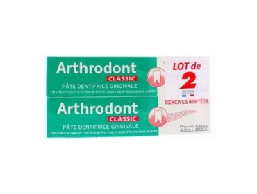 Arthrodont lot de 2 dentifrices classic